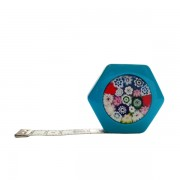 Сантиметр автоматический двусторонний синий с магнитом