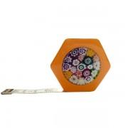 Сантиметр автоматический двусторонний оранжевый с магнитом