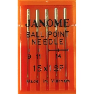 Набор игл Janome Ball Point Needle Mix №65, 75, 90 (Трикотаж и Джерси)