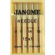 Набор игл Janome 15x1 mix №65, 75, 90, 100 (Универсальные)
