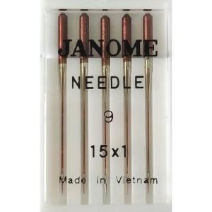 Набор игл Janome 15x1 №65 (Шелк и микрофаза)