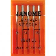 Набор игл Janome 15x1 mix Leather №75, 90, 100 (Кожа)