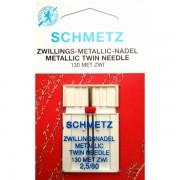 Игла двойная Schmetz Metallic Embroidery  №80/2,5