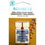 Игла двойная Schmetz Embroidery  №75/2.0